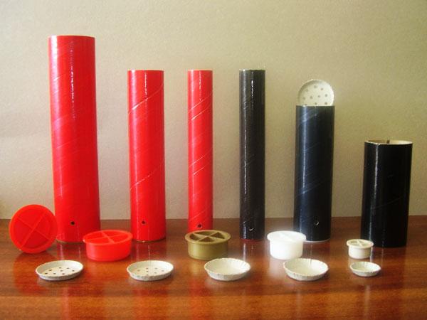 Contenitori tubi tubetti pirotecnici sfere per fuochi for Tubi in cartone